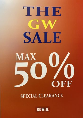 #THE GW SALE 開催